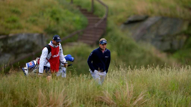 Luke Donald slumped in the closing stages of his round