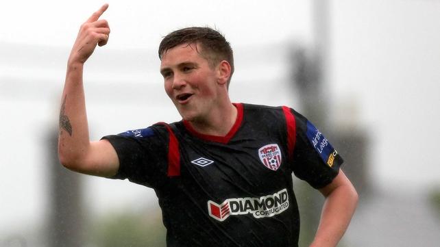 Patrick McEleney celebrates his goal