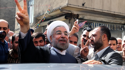 Hassan Rouhani won enough votes to claim victory outright