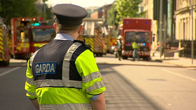 A number of fire brigades and members of the gardaí attended the scene at Trinity College, Dublin