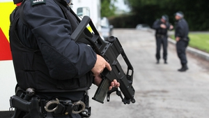 Armed officers are on duty at the summit venue in Co Fermanagh