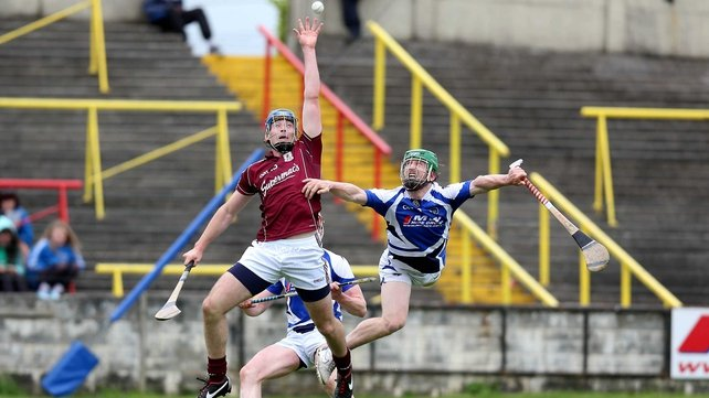 Galway's Conor Cooney rises highest as Cahir Healy challenges