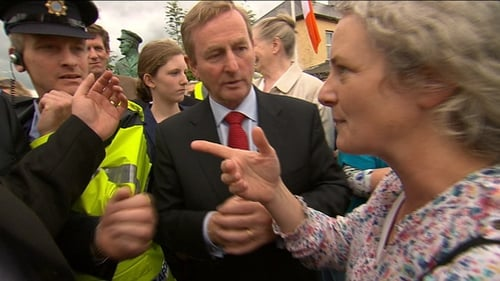 """The Taoiseach was confronted by a protester who told him he was """"proposing to kill the unborn"""""""