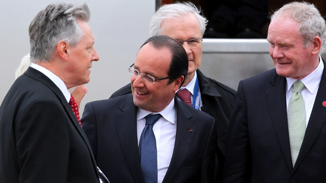 French President Francois Hollande meets Northern Irish politicians