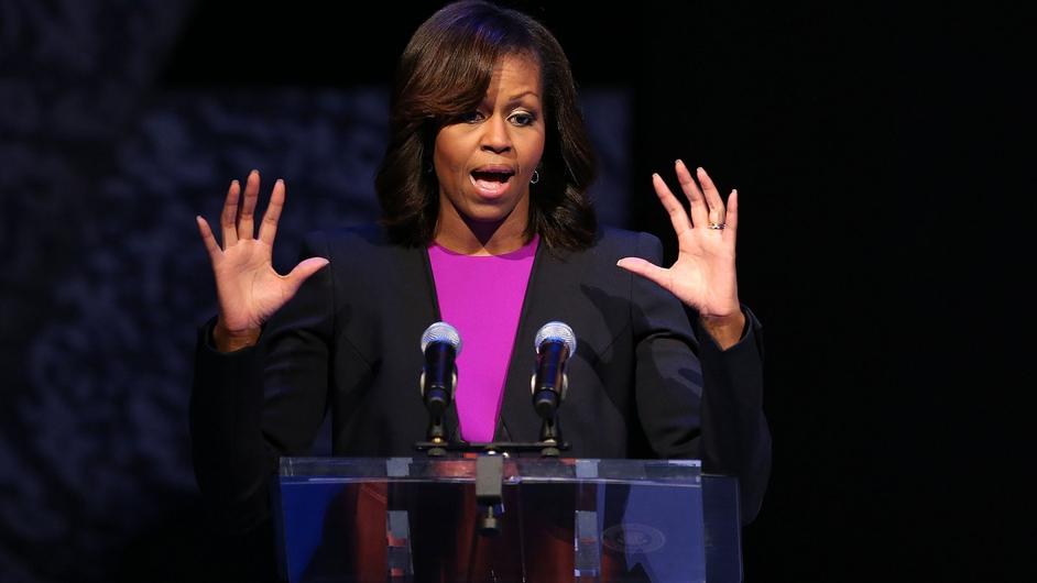Michelle Obama tells the Gaiety audience: 'It's good to be home'