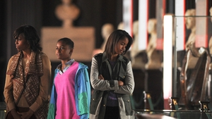 The Obamas took a tour of Trinity College and viewed the Book of Kells