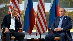 US President Barack Obama and his Russian counterpart Vladimir Putin look less than happy to be in each other's company at the summit