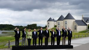 The G8 leaders pose for pictures during their summit at the Lough Erne resort in Co Fermanagh