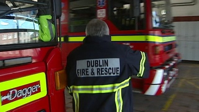Firefighters attended the blaze in the unoccupied building in Dublin