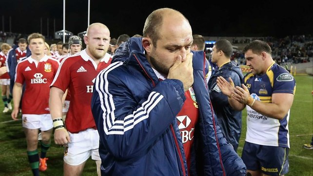 Rory Best can't hide his disappointment after the defeat