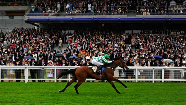 The son of War Front seen here winning at the Royal Ascot was less than impressive the last day out at the Curragh