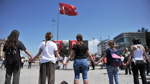 A new form of protest has developed in Taksim Square