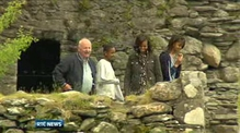 Michelle Obama and daughters visit Glendalough