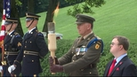 Fire taken from JFK eternal flame for ceremony in Ireland