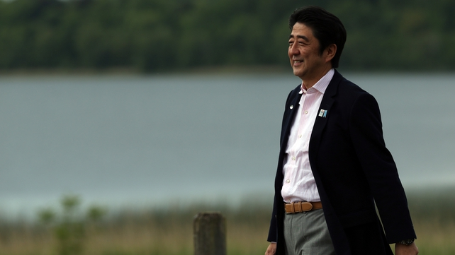 Shinzo Abe was in Dublin following the G8 summit in Fermanagh