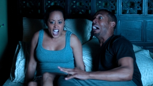 Marlon Waynes stars as Malcolm, whose girlfriend Kisha (Essense Atkins) has just moved in with him