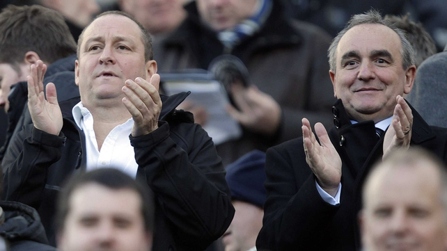 Derek Llambias (right) pictured with Newcatle owner Mike Ashley