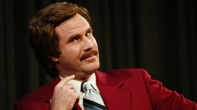 Will Ferrell plays hapless newsreader Ron Burgundy in the Anchorman franchise