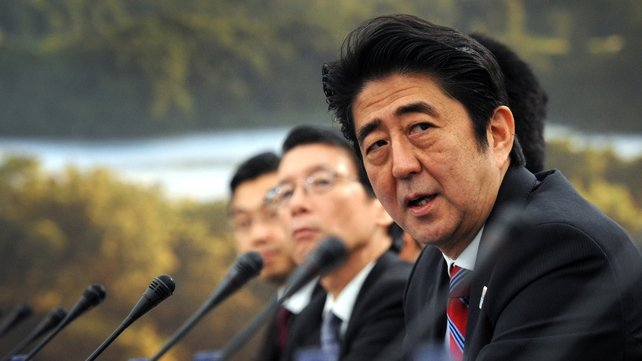Shinzo Abe travelled to Dublin having attended the G8 summit in Fermanagh