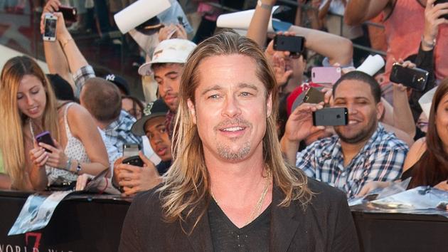 Brad Pitt has said that he would party through an apocalypse