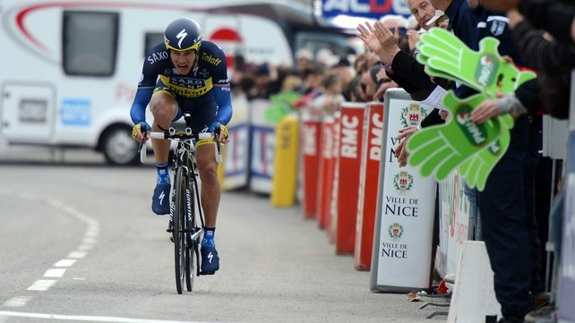 Nicolas Roche in action in the Paris-Nice last March