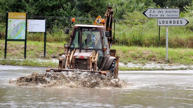 Roads in the region were inundated
