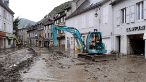 Work on cleaning up the town got under way as soon as the waters receded
