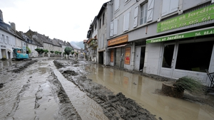 Streets in the village were left covered with mud
