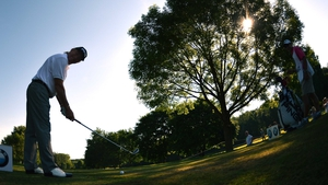Miguel Angel Jimenez of Spain in action during pro am ahead of the BMW International Open at Golfclub Munchen Eichenried