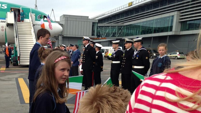 The eternal flame arrived from the US on an Aer Lingus flight