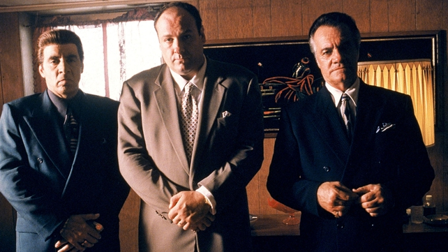 James Gandolfini (centre) made his name as crime boss Tony Soprano