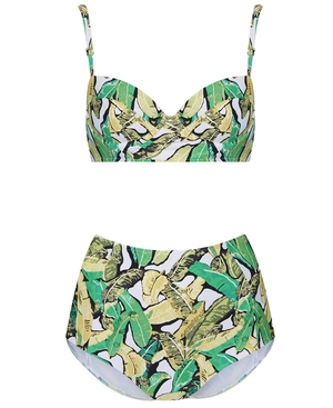 Topshop Green Leaf Bikini, £34