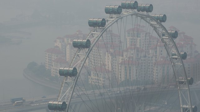 Singapore's pollution index has soared to record highs