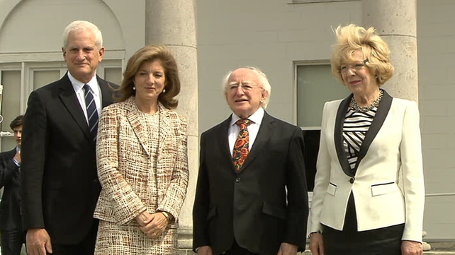 Ms Kennedy and members of her family visited President Michael D Higgins and his wife Sabina at Áras an Uachtaráin