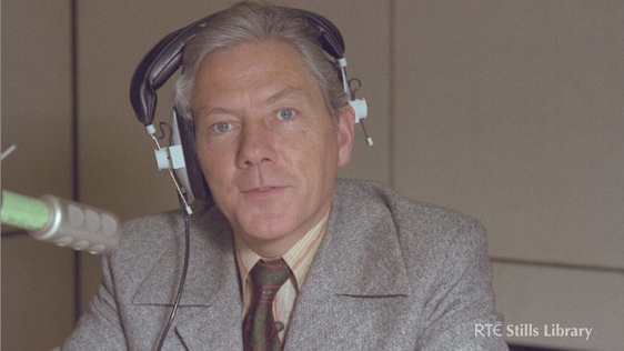 Gay Byrne in a RTÉ Radio studio, 1981. © RTÉ Stills Library 2043/010