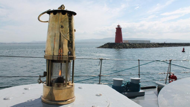 The flame is making its way to Wexford aboard the LE Orla (Pic: Irish Defence Forces - @dfpo)