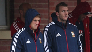 Jonathan Davies (left) and Tom Croft (right) sat out the final Lions training before the clash with Australia