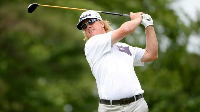 Charley Hoffman leads the Travelers Championship by one shot after the first round in Connecticut