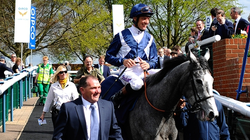 Sky Lantern and Richard Hughes combined to win the Coronation Stakes