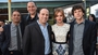 Mark Ruffalo, director Louis Letterier producer Bobby Cohen, actress Isla Fisher and actor Jesse Eisenberg at a Hollywood screening of Now You See Me