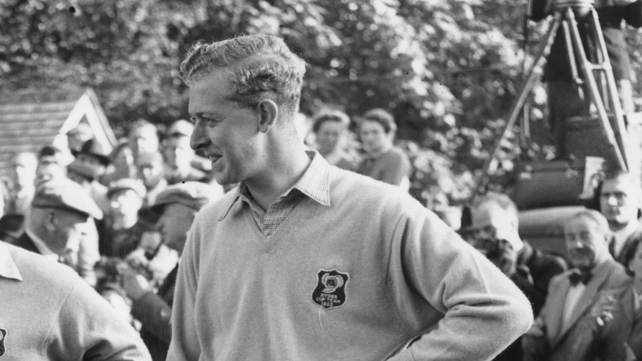 Bernard Hunt, pictured at the 1953 Ryder Cup, has passed away