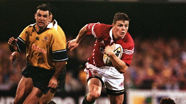 Brian O'Driscoll in action for the Lions back in 2001