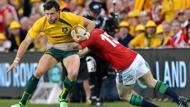 Adam Ashley-Cooper on the attack for Australia