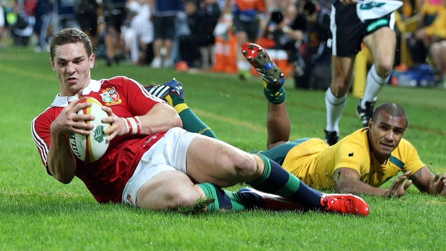 George North touches down for the first Lions try