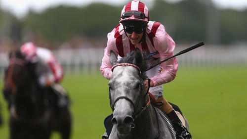 Lethal Force, ridden by Adam Kirby, secured victory in the Diamond Jubilee Stakes