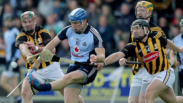 Kieran Joyce and Richie Hogan tackle Conal Keaney