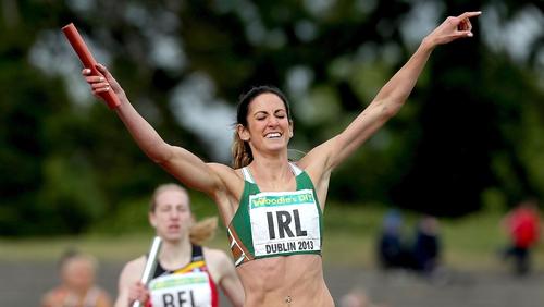 Jessie Barr helped the Irish 4x400m team claim an impressive win