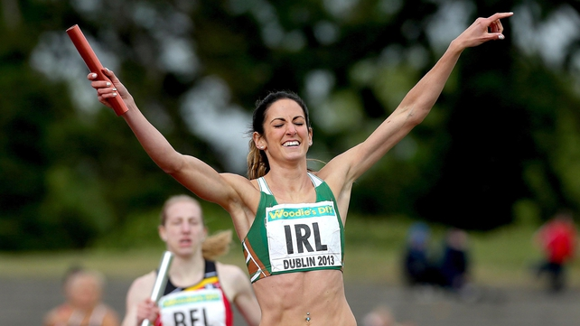 Jessie Barr helped the Irish 4x400m team claim an impressive win