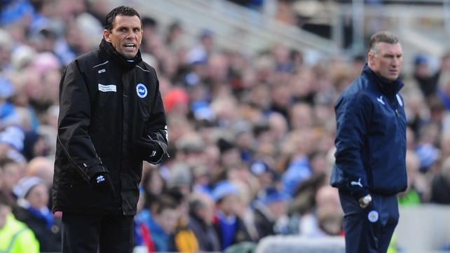 Gus Poyet was sacked as Brighton manager while working as a TV pundit on BBC last night