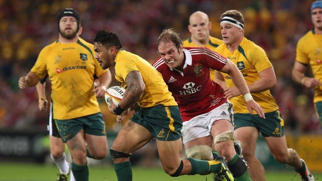 Digby Ioane in action for Australia against the Lions
